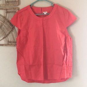 Coral Cap Sleeve Blouse